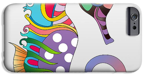 Caricature Posters iPhone Cases - Sea Life iPhone Case by Mark Ashkenazi