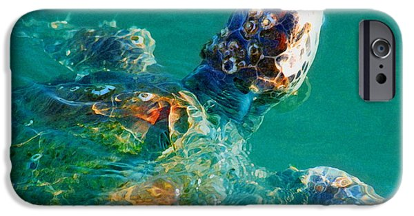 Animal Photograph Mixed Media iPhone Cases - Sea Turtle iPhone Case by W Gilroy