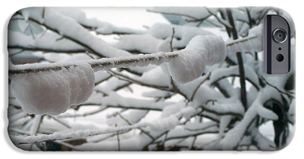 Snow Reliefs iPhone Cases - Second Day Of Spring iPhone Case by Suhas Tavkar