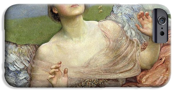 Pre-raphaelites iPhone Cases - Sense of Sight iPhone Case by Annie Louisa Swinnerton