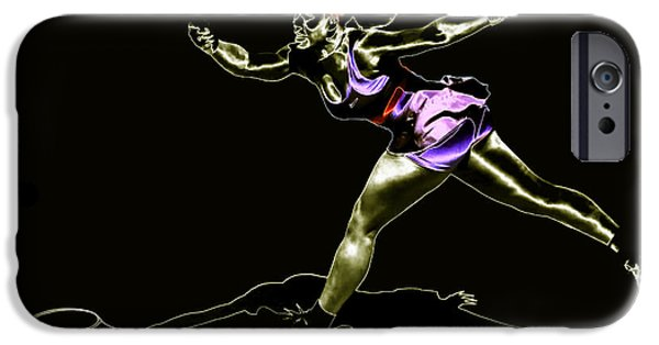 Wta Digital Art iPhone Cases - Serena Williams Extended iPhone Case by Brian Reaves