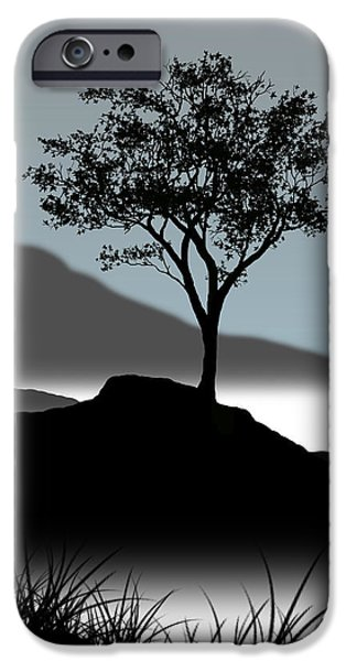 Tree iPhone Cases - Serene iPhone Case by Chris Brannen