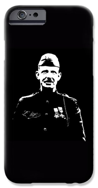 World War One iPhone Cases - Sergeant Alvin York iPhone Case by War Is Hell Store