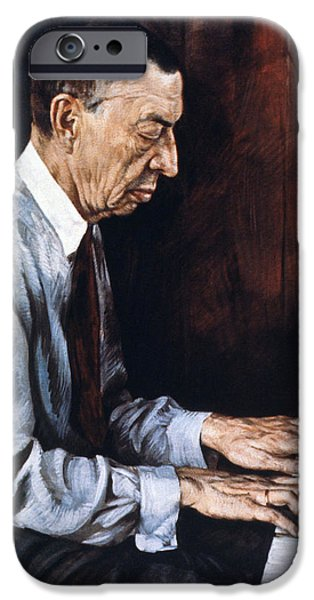 19th Century iPhone Cases - Sergei Rachmaninoff iPhone Case by Granger