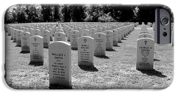 Cemetary iPhone Cases - Shadows of Patriots Past iPhone Case by Norman Johnson