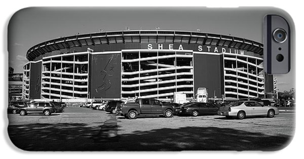 New York Baseball Parks iPhone Cases - Shea Stadium - New York Mets iPhone Case by Frank Romeo
