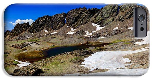 Snow iPhone Cases - Sierra Nevada - Rio Seco iPhone Case by Juan Carlos Ballesteros