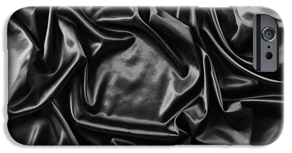 Texture iPhone Cases - Silk fabric iPhone Case by Les Cunliffe