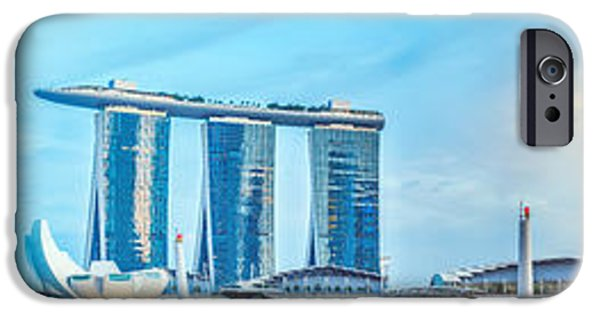Financial Interest iPhone Cases - Singapore skyline iPhone Case by MotHaiBaPhoto Prints