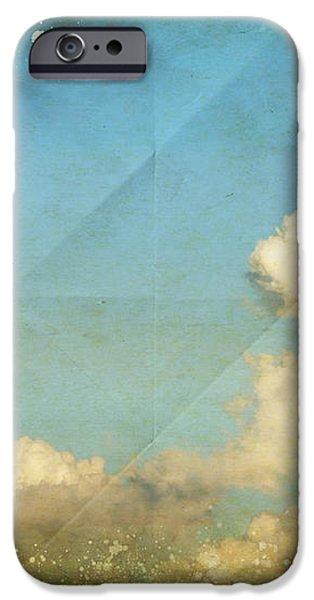 sky and cloud on old grunge paper iPhone Case by Setsiri Silapasuwanchai