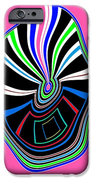 Animation iPhone Cases - Smart Graphics Techy Techno KIDS room lowprice wall posters graphic abstracts for throw pillows duve iPhone Case by Navin Joshi