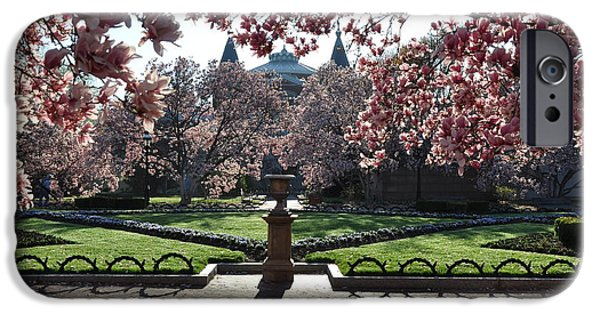 Smithsonian iPhone Cases - Smithsonian Castle Garden iPhone Case by Carrie Goeringer