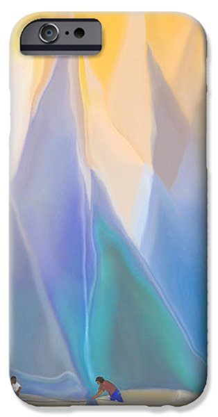 SMOOTH SAILING iPhone Case by Mathilde Vhargon
