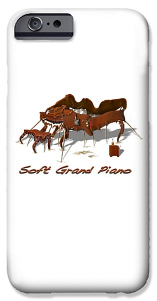 Furniture iPhone Cases - Soft Grand Piano  iPhone Case by Mike McGlothlen