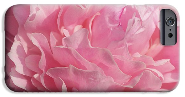 Indiana Flowers iPhone Cases - Softly Pink iPhone Case by Sandy Keeton