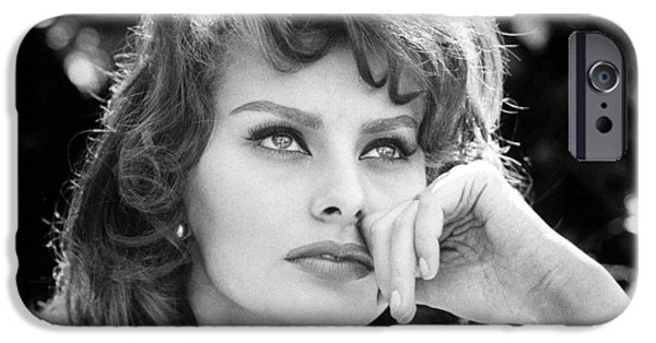 Red Carpet iPhone Cases - Sophia Loren iPhone Case by Nomad Art And  Design