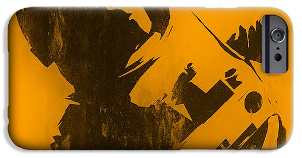 Stencil iPhone Cases - Space Ape iPhone Case by Pixel Chimp