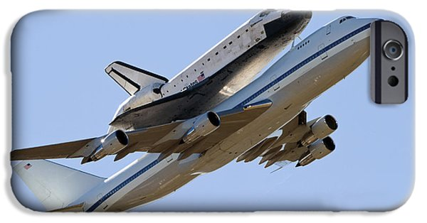Boeing 747 iPhone Cases - Space Shuttle Endeavour Mounted iPhone Case by Stocktrek Images
