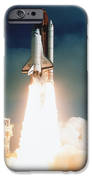 Spacecraft iPhone Cases - Space Shuttle Launch iPhone Case by NASA / Science Source