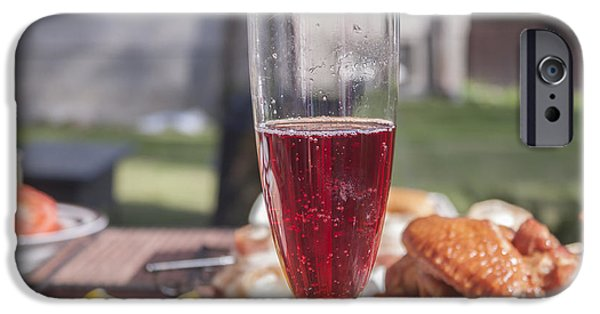 Wine Bottles iPhone Cases - Sparkling rose wine iPhone Case by Daniel Ronneberg
