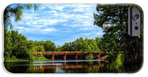 Bay Bridge iPhone Cases - Spillway Bridge iPhone Case by Ester  Rogers