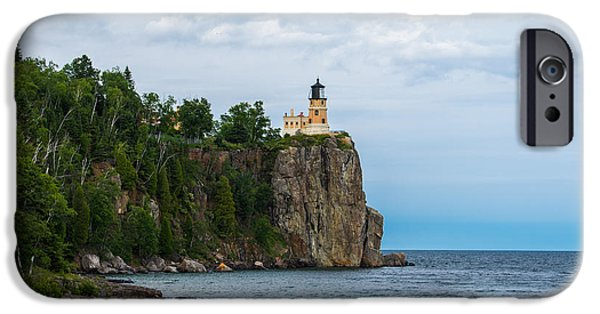 Tree Art Print iPhone Cases - Split Rock Lighthouse  iPhone Case by Bill Bucu