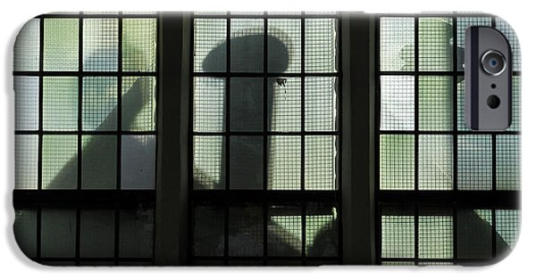 Haunted House iPhone Cases - Spooky Windows 1 iPhone Case by Maria Meester