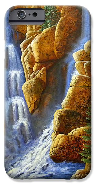 Drama iPhone Cases - Spring Cascade iPhone Case by Frank Wilson