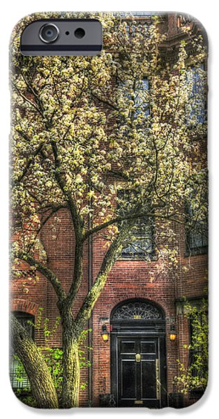 Floral Photographs iPhone Cases - Spring in Boston - Back Bay iPhone Case by Joann Vitali