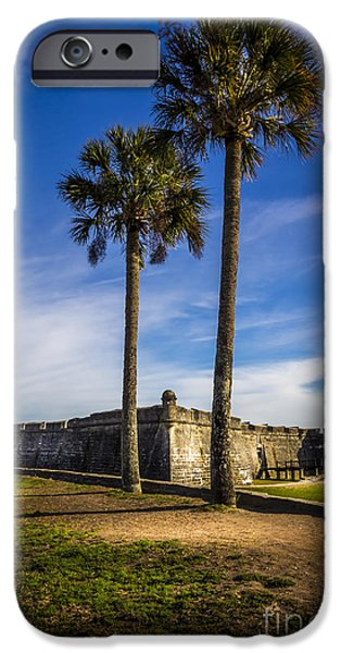San Marco iPhone Cases - St. Augustine Fort iPhone Case by Marvin Spates