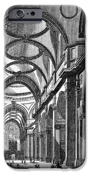 Saint Christopher iPhone Cases - St. Pauls Cathedral, 19th Century iPhone Case by Middle Temple Library
