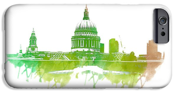 Symmetrical Photographs iPhone Cases - St Pauls Cathedral iPhone Case by Martin Newman