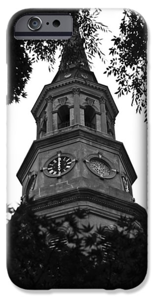 St Photographs iPhone Cases - St. Philips Church Steeple iPhone Case by Dustin K Ryan