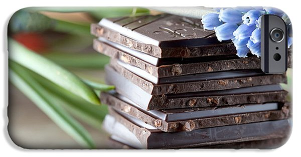 Slices iPhone Cases - Stack of Chocolate iPhone Case by Nailia Schwarz