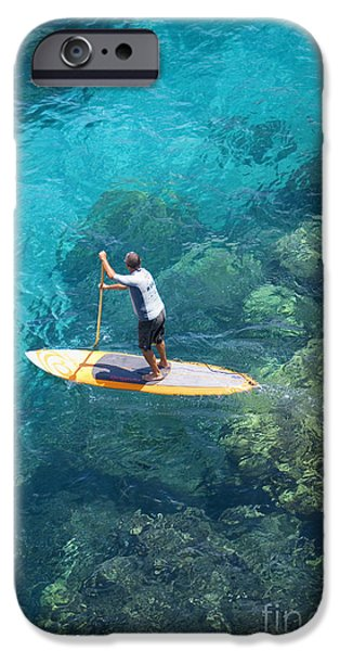 Break Fast iPhone Cases - Stand up paddling iPhone Case by Ron Dahlquist - Printscapes