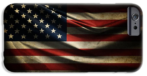 Old Glory iPhone Cases - Stars and Stripes iPhone Case by Ryan Wyckoff
