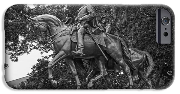 Outdoors Sculptures iPhone Cases - Statue of General Robert E Lee on His Horse Traveller  iPhone Case by Mountain Dreams
