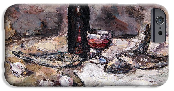 Wine Bottles iPhone Cases - Still life iPhone Case by Ilie Leu