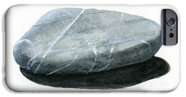 Stone Paintings iPhone Cases - Stone iPhone Case by Lincoln Seligman