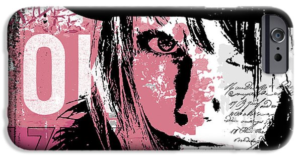 Abstract Digital Mixed Media iPhone Cases - Stronger in Pink iPhone Case by Melissa Smith