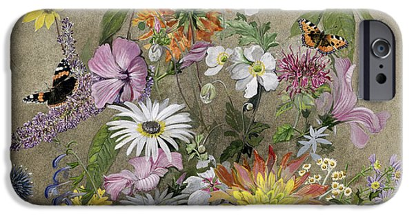 Moth iPhone Cases - Summer Flowers iPhone Case by John Gubbins