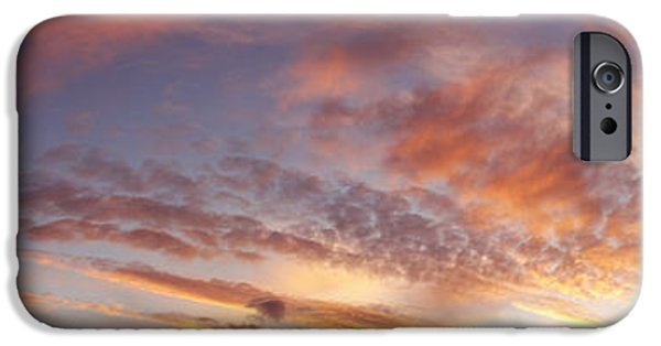 Nature Abstracts iPhone Cases - Summer sky iPhone Case by Les Cunliffe