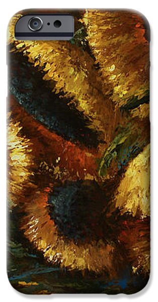 sunflowers iPhone Case by Michael Lang