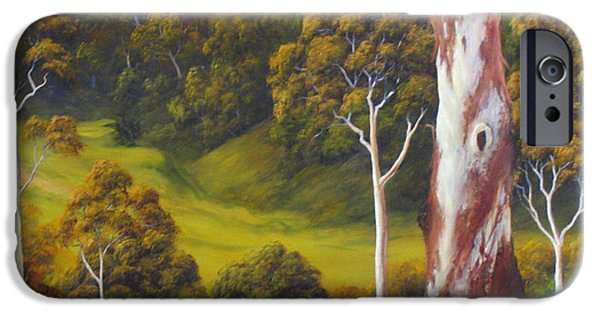 Landscapes Reliefs iPhone Cases - Sunny Day iPhone Case by John Cocoris