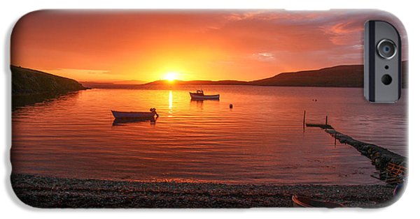 Sea iPhone Cases - Sunset At Trondra Shetland iPhone Case by Anne Macdonald