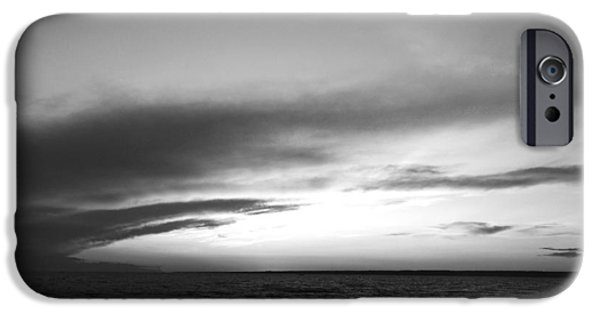 Beach Landscape iPhone Cases - Sunset at Verona Beach iPhone Case by David Stasiak