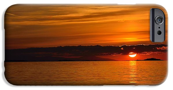 Ocean Sunset iPhone Cases - Sunset Colors iPhone Case by Elmar Langle