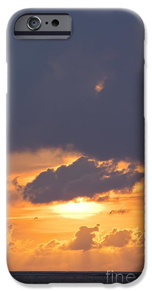 Wadden Sea iPhone Cases - Sunset in Buesum iPhone Case by Angela Doelling AD DESIGN Photo and PhotoArt