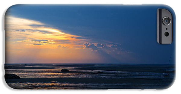 Storm Clouds Cape Cod iPhone Cases - Sunset on Cape Cod iPhone Case by Diane Diederich