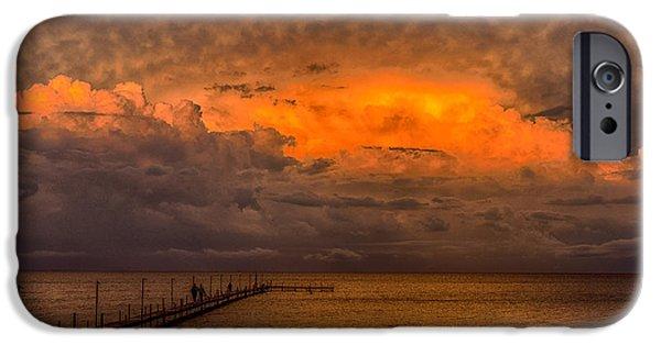 Interior Scene iPhone Cases - Sunset On Lake Milacs iPhone Case by Paul Freidlund